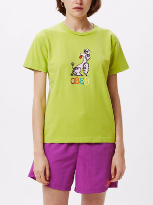 obey poodle box tee bright lime | OBEY Clothing