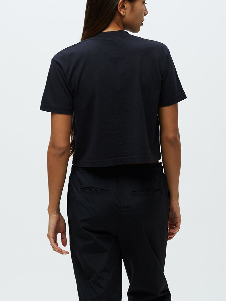 obey intl advisory crop tee off black | OBEY Clothing