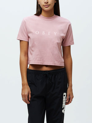 novel obey crop tee dusty pink | OBEY Clothing