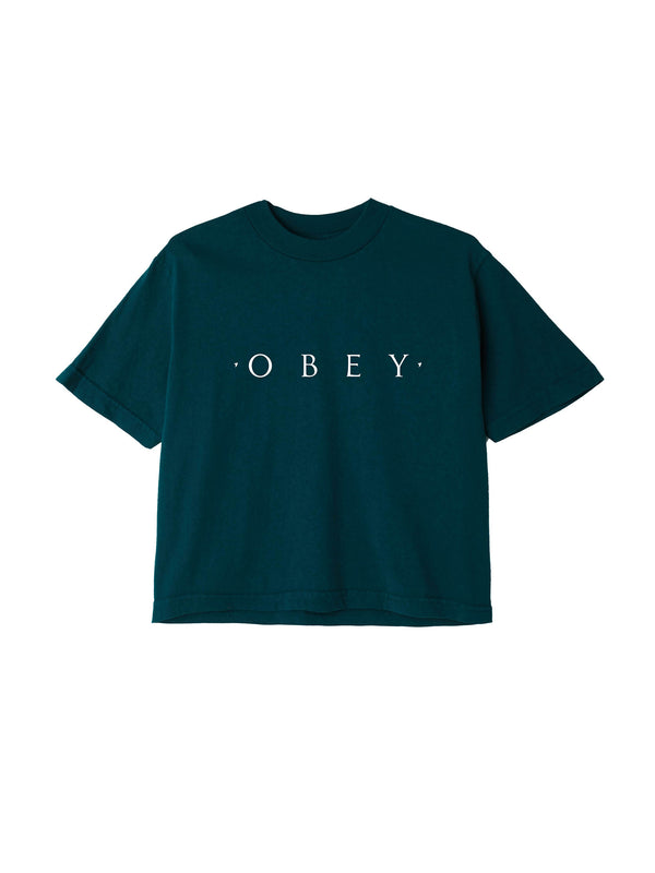 novel obey crop tee forest pine | OBEY Clothing
