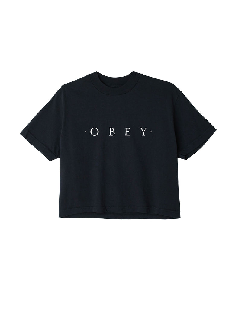 novel obey crop tee off black | OBEY Clothing