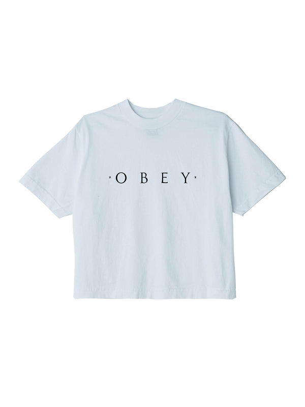 novel obey crop tee white | OBEY Clothing