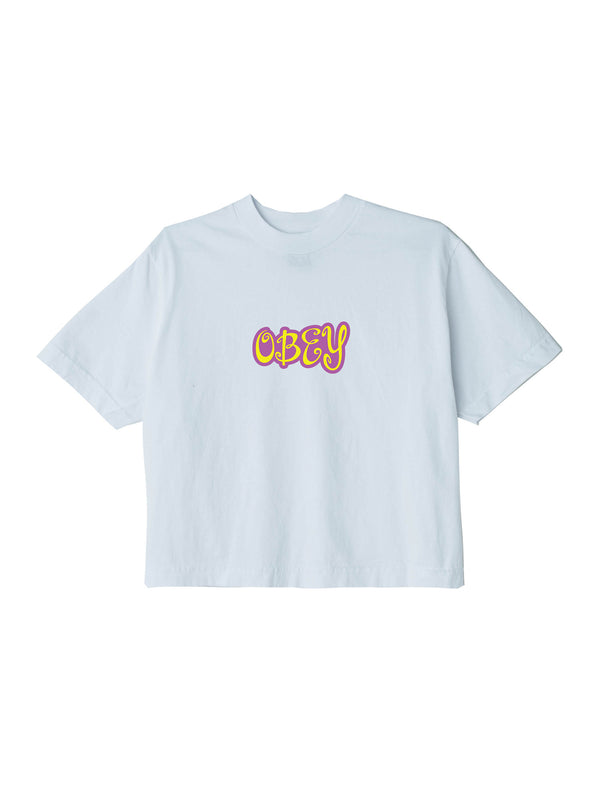 obey cute crop tee white | OBEY Clothing