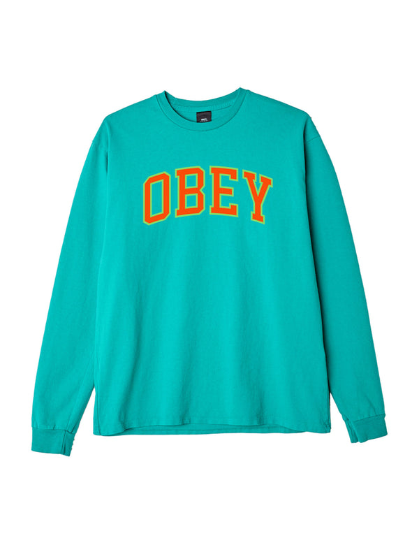 obey academic ls bright jade / orange | OBEY Clothing