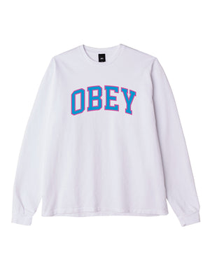 obey academic ls white / blue | OBEY Clothing