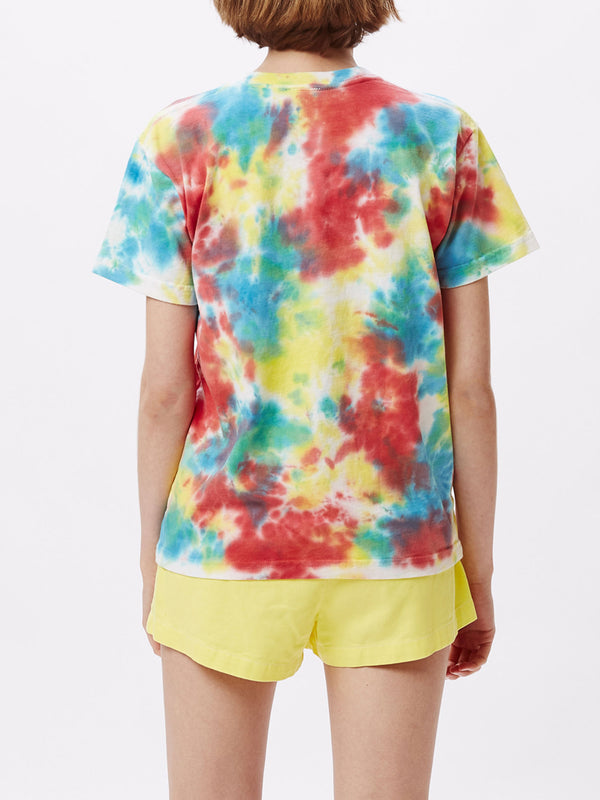 bloom tie dye t rainbow blotch | OBEY Clothing