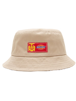 oby9 reversible bucket hat khaki | OBEY Clothing