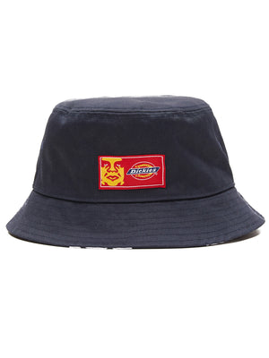 oby9 reversible bucket hat dark navy | OBEY Clothing