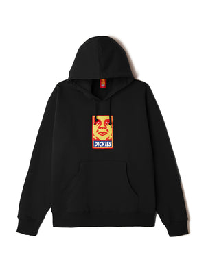 oby4 heavyweight hood black | OBEY Clothing