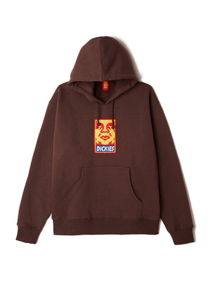 oby4 heavyweight hood chocolate brown | OBEY Clothing