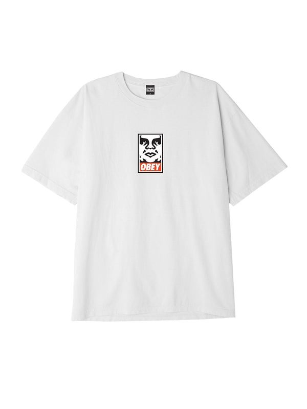obey icon face box tee white | OBEY Clothing