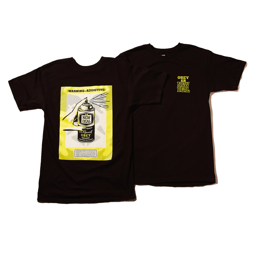 obey the new deal tee black | OBEY Clothing