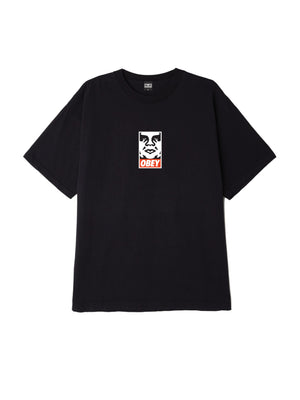 obey icon face box tee off black | OBEY Clothing