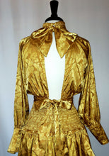 Load image into Gallery viewer, Gold long sleeve blouse