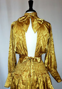 Gold long sleeve blouse