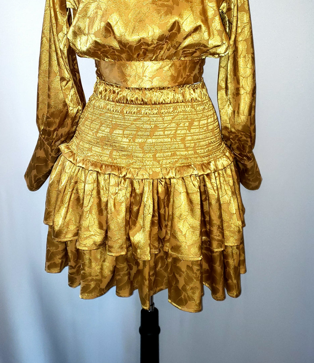 Gold ruffle skirt