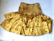 Load image into Gallery viewer, Gold ruffle skirt