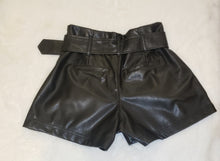 Load image into Gallery viewer, Pleather shorts