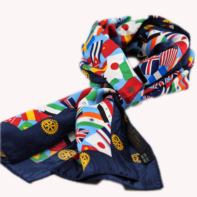 Multi National Silk Scarf