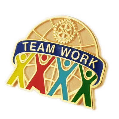 Team Work Pin, Tej Brothers, Rotary Pins - Rotary International