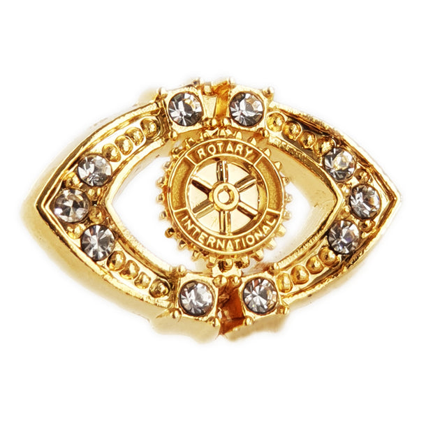Fancy Stone Pin, Tej Brothers,  - Rotary International