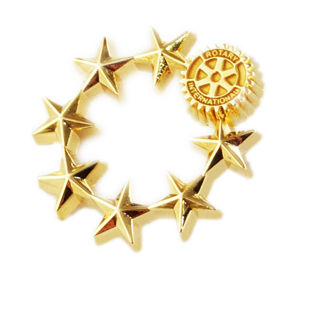 Super Star Rotarian Pin, Tej Brothers, lapel pin - Rotary International