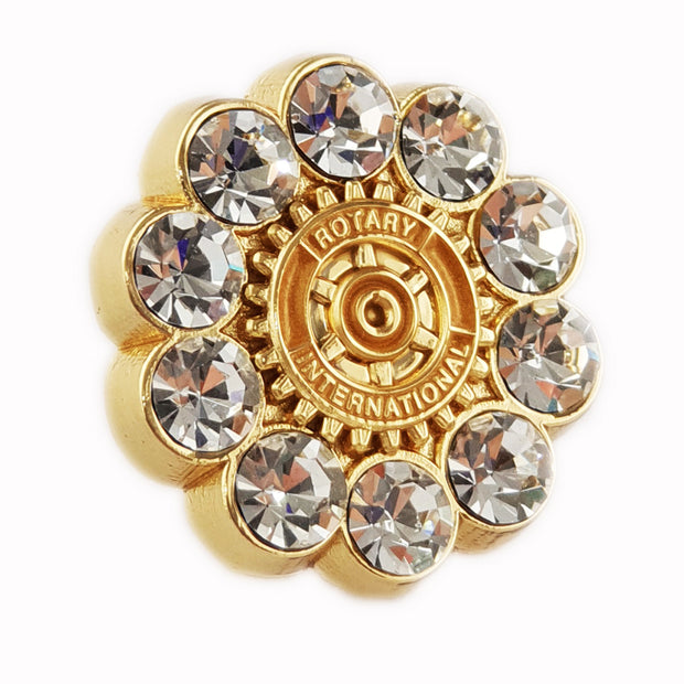 Fancy White Stone Pin (Also available with magnetic version) - Awards California