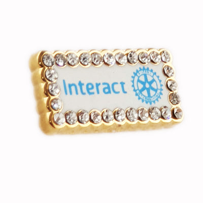 Fancy Interact Member Pin, Tej Brothers,  - Rotary International