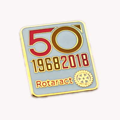 50 Years of Rotaract Pin (Colors Available) - Awards California