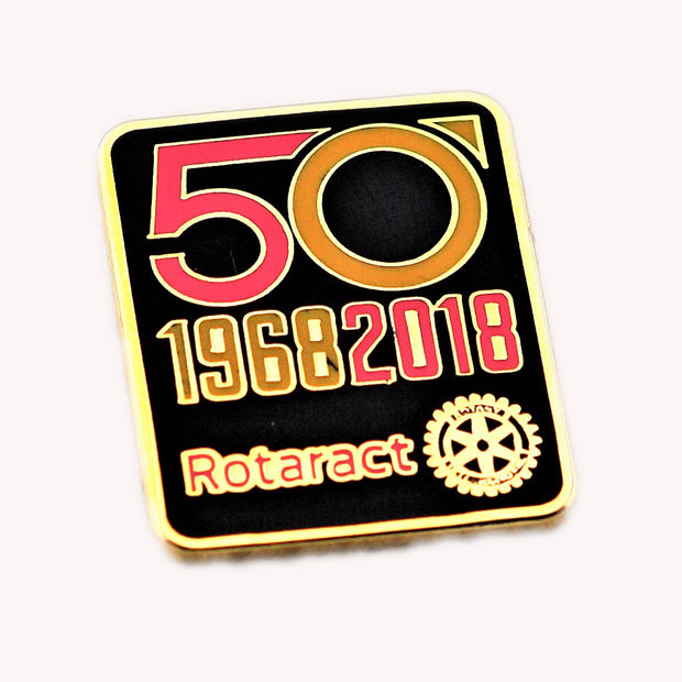 50 Years of Rotaract Pin (Colors Available), Tej Brothers,  - Rotary International