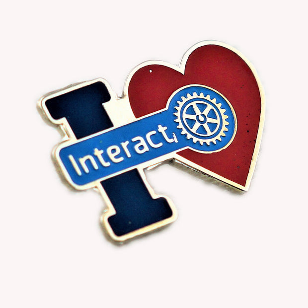 """I Love Interact"" Pin - Awards California"