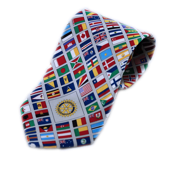 Rotary International Flag Tie - Awards California