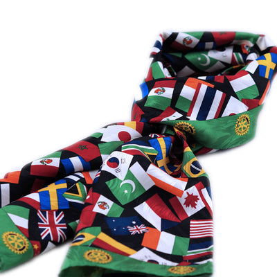 Rotary International Flag Silk Scarf - Awards California