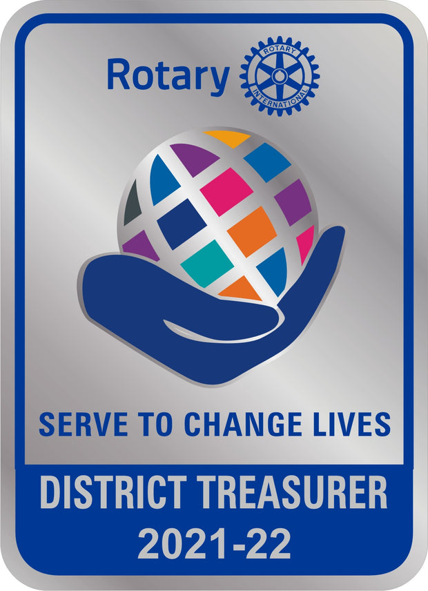 Magnetic Pocket Badge - District Treasurer - Awards California
