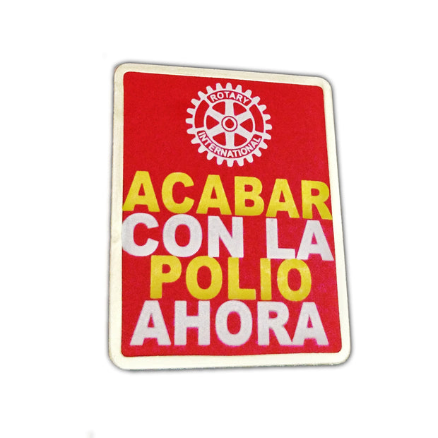 End Polio Pin (Spanish) - Awards California