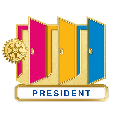 Theme Officer Pin - President (Also available in Magnetic Version), Tej Brothers, Rotary Pins - Rotary International