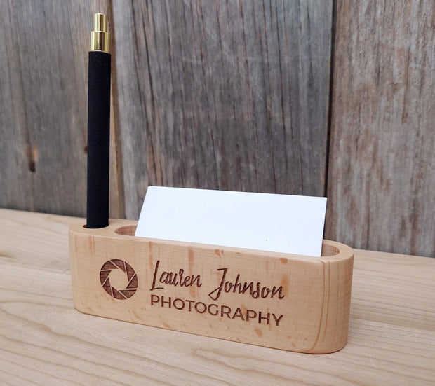 Personalized Business Card & Pen Holder - Awards California