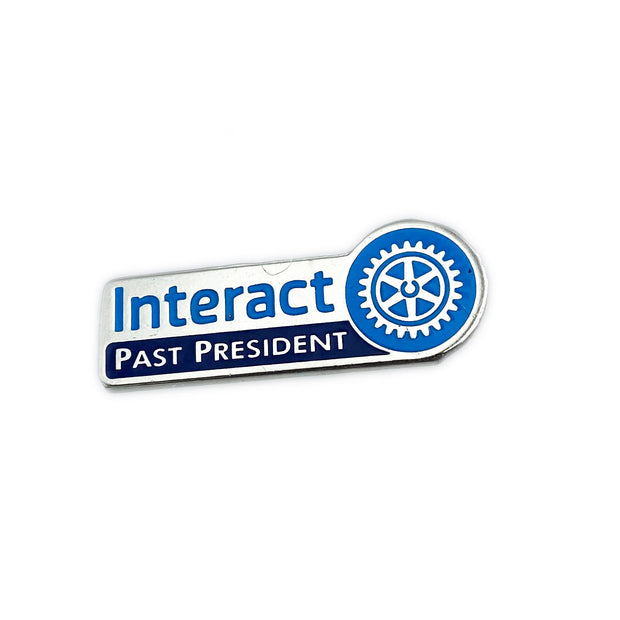 Interact Past President Pin, Tej Brothers, lapel pin - Rotary International