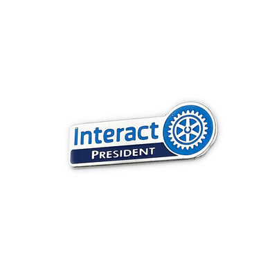 Interact President Pin, Tej Brothers, lapel pin - Rotary International