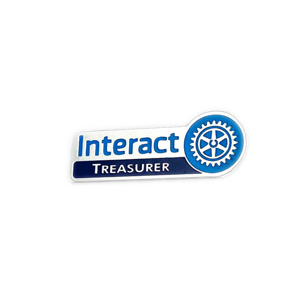Interact Treasurer Pin, Tej Brothers, lapel pin - Rotary International