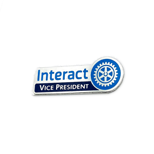 Interact Vice President Pin, Tej Brothers, lapel pin - Rotary International