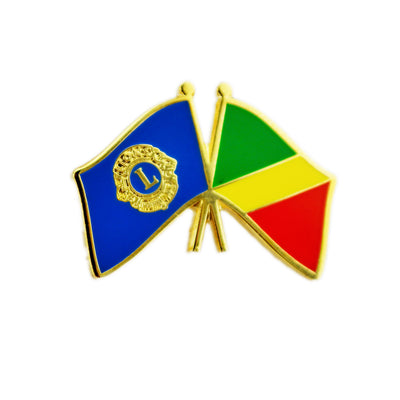 Republic of Congo Flag Pin - Awards California