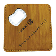 Leatherette Coaster with Bottle Opener (Customization Available) - Awards California