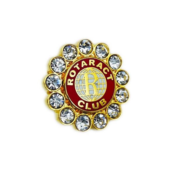 Rotaract Member Pin with Stones, Tej Brothers, lapel pin - Rotary International