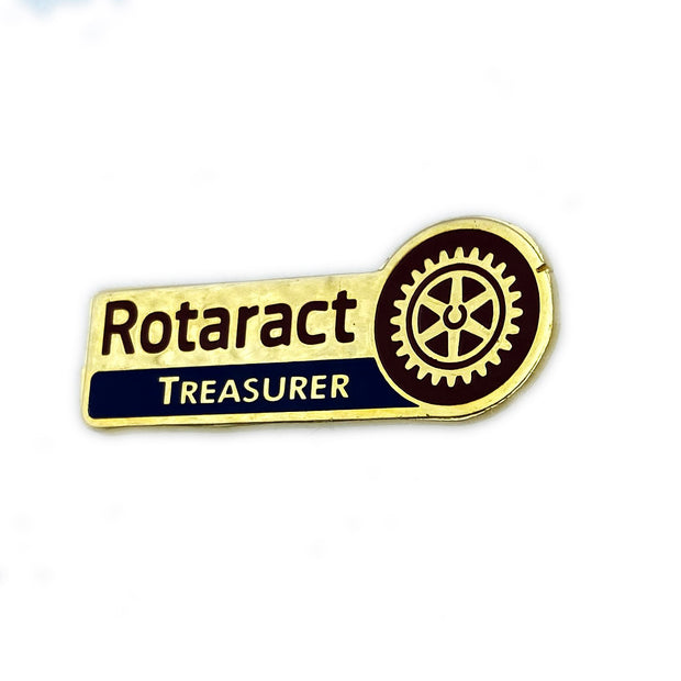 Rotaract Treasurer Pin - Awards California