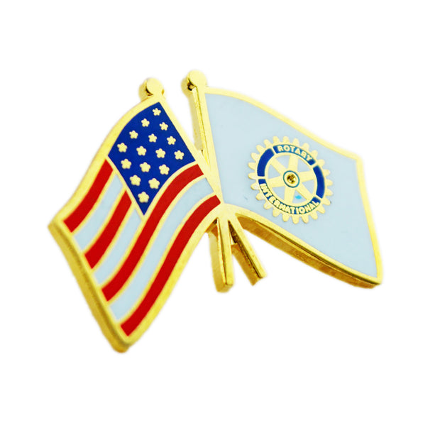 USA Flag Pin, Tej Brothers, lapel pin - Rotary International