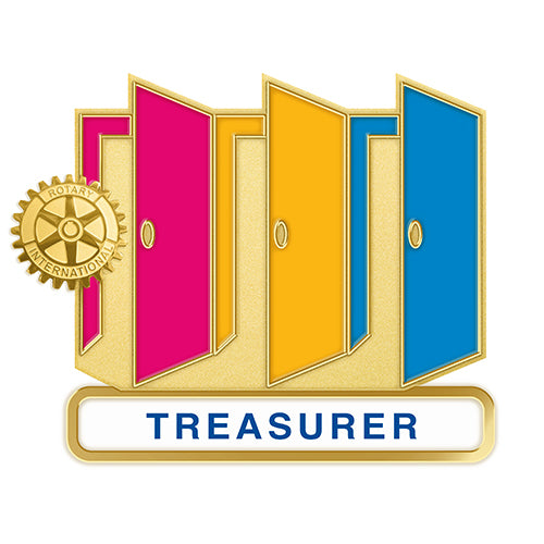 Theme Officer Pin - Treasurer (Also Available in Magnetic Version), Tej Brothers, Rotary Pins - Rotary International