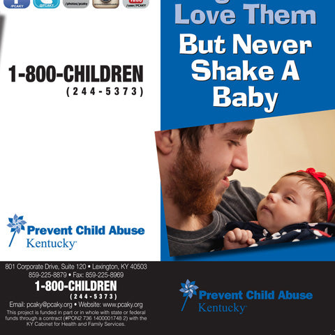 Hold Them, Hug Them, Love Them, But Never Shake a Baby (Bundle of 50)