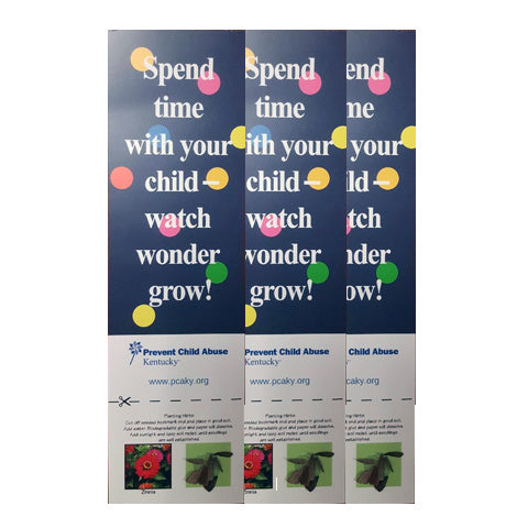 Spend Time with Child - Bookmark & Seed Kit (Bundle of 25)