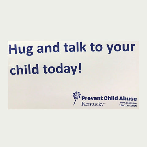 Hug and talk to your child today! Magnets (Stack of 25)